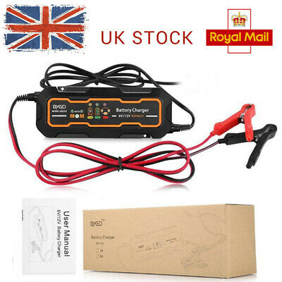 3 Step Automatic Smart Battery Charger 12V 5A Car Trickle RV Motorcycle