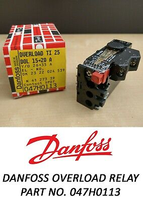 Danfoss Thermal Overload Relay TI 25 - DOL 15 > 20 A Part no. 047H0113