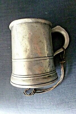 W Excellent Antique William Iv Pewter Pint Tankard