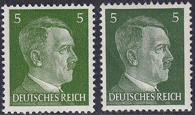 Stamp Germany Mi 784a 784b Sc 509 1941 WW2 3rd Reich War Hitler BOTH TYPES MNH