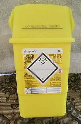 1L Yellow Sharps Container,New ,Unused