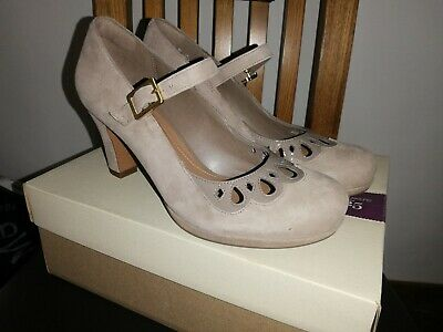 NEW CLARKS CHORUS MUSIC WOMENS PEBBLE SUEDE SHOES SIZE 5 38 WIDE FIT