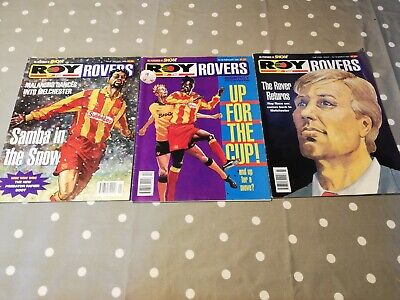 Roy of the Rovers Comic Monthly Final / Last 3 Issues Jan - March 1995 Complete