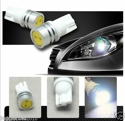 2x T10 W5W 501 A SMD 5050 LED HIGH POWER CANBUS CAR SIDE LIGHT WEDGE WHITE BULB.