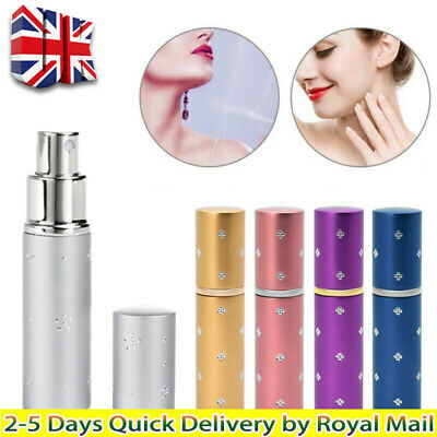 Perfume Atomiser Bottle 10ml Pump Aftershave Atomizer Travel Refillable Spray