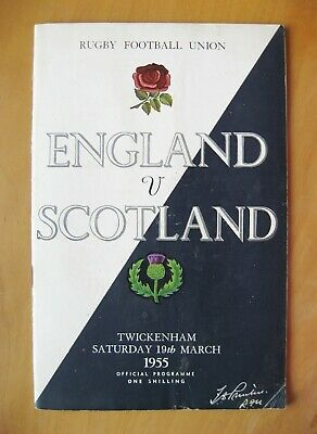 ENGLAND v SCOTLAND 1953 *VG Condition Rugby Union Programme*