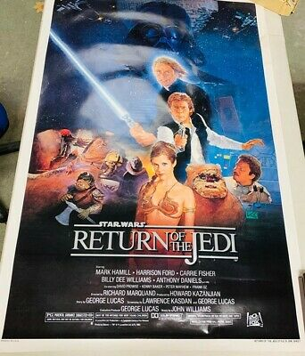 Original Star Wars Return of the Jedi Style B One Sheet printed in USA.
