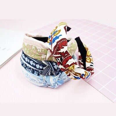 Summer Women Headband Cute Twist Bowknot Floral Hair Band Headdress Accessories