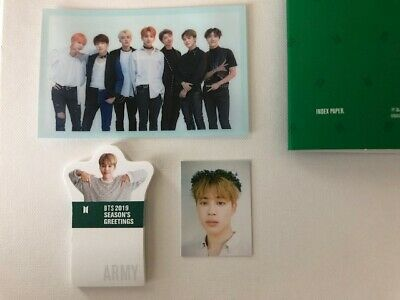Official BTS Season Greeting 2019 JIMIN ID photo+Index paper+free official gift!