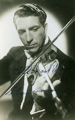 Mantovani Violinist Signed Vintage Portrait Performing