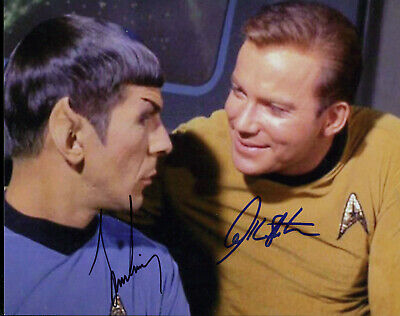 William Shatner And Leonard Nimoy Signed Photo Color In Person Shows Both