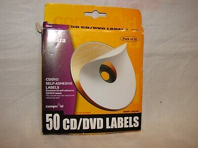 Aidata 50 CD/DVD Labels (CDL50C) - White