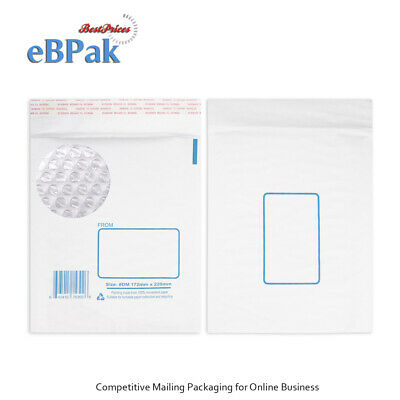 Bubble Envelope Padded Bag Mailer - 10 Sizes Kraft Paper and Plastic options
