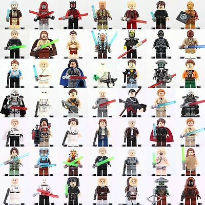 Lego Star Wars Minifigures Jedi Darth Vader Yoda Kylo Ren Clone Jaja Ewok Blocks