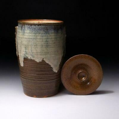 FL18: Japanese Pottery Water Container, Mizusashi, by Famous potter, Seiwa Hara