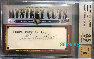 2008 Mystery Cuts Autograph: Charles Curtis #1/1 Auto Vice President/Senator Bgs