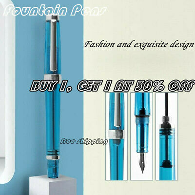 Wing Sung 3013 Vacuum Fountain Pen Paili 013 Resin Transparent Quality Nib  EF/F