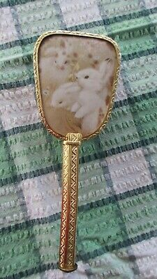 Rare Vintage Pretty Childs Hair Brush,with Rabbits,Clean