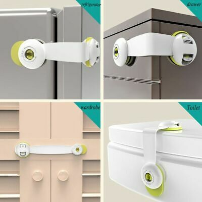 Child Kids Baby Safety Lock For Door Drawers Cupboard Cabinet Adhesive