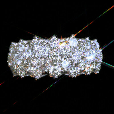 2Ct 100% Natural Diamond 10K White Gold Cluster Ring EFFECT 4Ct RWG160-7