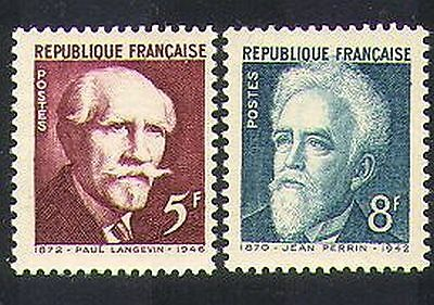 France 1948 Science/Physics/Scientists/People/History 2v set (n36946)