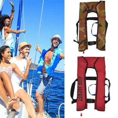 UK Adult Automatic Manual Inflatable Life Jacket 150N Sailing Boating NEW