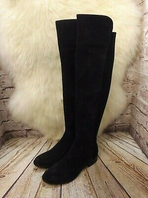 7237324b48b CLARKS CADDY BELLE Navy Blue Suede Knee High Boots Size 5.5 & 6.5 ...