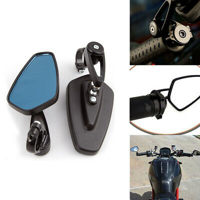 """Motorbike Motorcycle 7/8"""" Handle Bar End Universal Rearview Side Mirrors Scooter"""