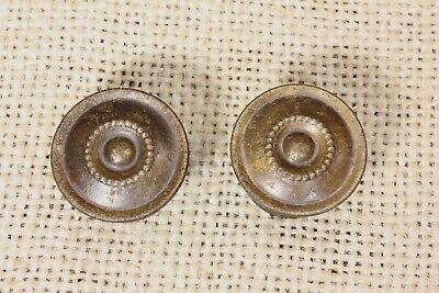 "2 Cabinet Drawer Pulls 1 1/8"" Door Knob interior shutter Old 1890's rustic tin"