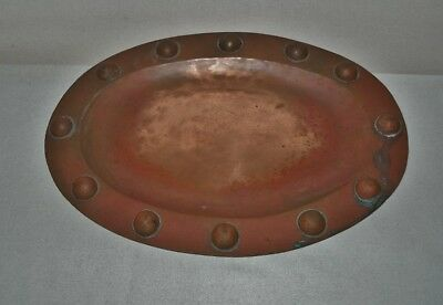 Phenomenal ARTS CRAFTS TRAY Hand Hammered COPPER Fine EXTRAORDINARY Work of Art