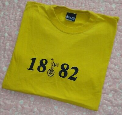 Yellow Tottenham Hotspur Spurs FC Football Supporters 1882 T-Shirt Size: Large
