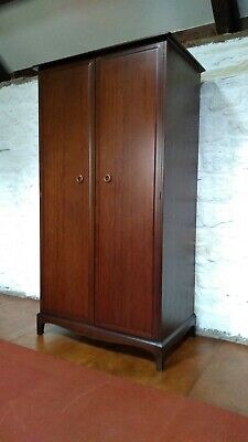 Stag Minstrel Mahogany Wardrobe. Retro vintage. With shelves and drawers. S156.