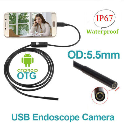 Hot -MD LED 5.5mm Android Endoscope Waterproof Snake Borescope Inspection Camera
