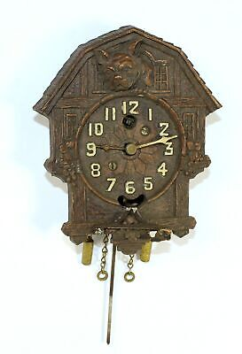 BULLDOG KEEBLER NOVELTY CUCKOO CLOCK needs Pendulum bob & key - DH786