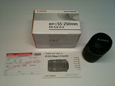 Canon EFS 55-250mm F/4-5.6 II IS Lens