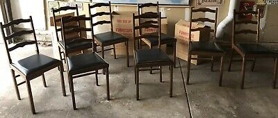 Vintage Leg-O-Matic Folding Chairs - Set of 8 New Old Stock In Box