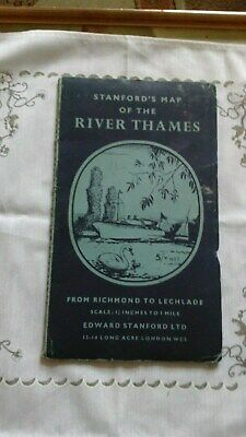 Vintage Stanfords Map Of The River Thames From Richmond To Lechlade