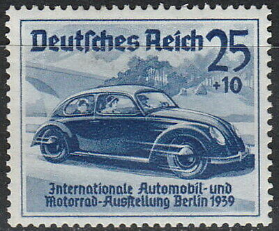 Stamp Germany Mi 688 Sc B136 1939 WW2 War Exposition Berlin Volkswagen KDF MNH