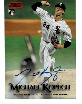 2019 Topps Stadium Club Michael Kopech RC Rookie Red Parallel AUTO #32/50 (EB)
