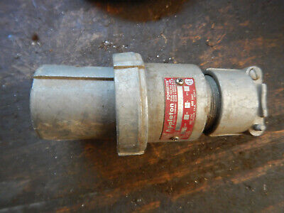 Older Appleton 60 Amp Power Plug 4 Wire Industrial  3 Phase