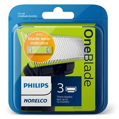 Brand New Philips Norelco OneBlade Replacement Blade (3-Pack)  QP230/80