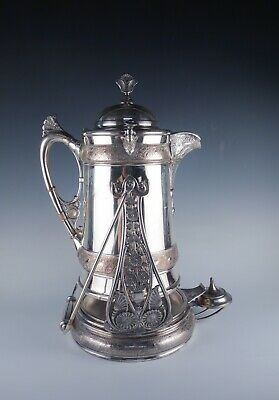 Antique Reed & Barton Silver SP Renaissance Revival Victorian Pitcher on Stand