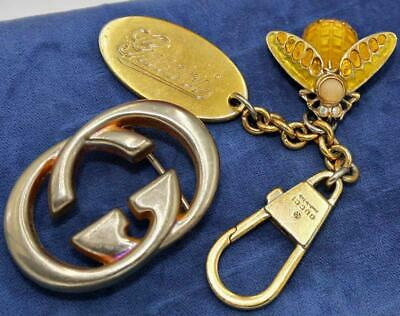 Nice Heavy Vtg Gucci Men's Women's Interlocking G Belt Buckle & Keychain Lot