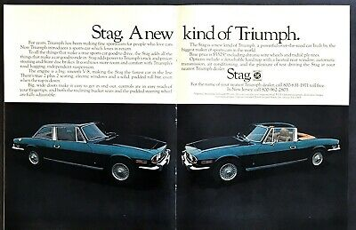 new kind 1972 Triumph Stag Classic Vintage Advertisement Ad A70-B