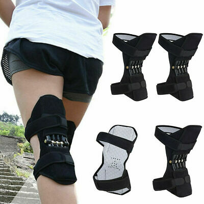 1 Pair Power Leg Joint Support Knee Pads Powerful Rebound Spring Force