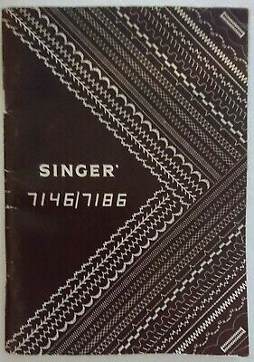 Singer 7146/7186 Sewing Machine Instruction Manual Booklet 1982 - Look!