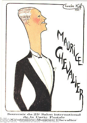 Postcard Maurice Chevalier by Charles Kiffer (Worsted)