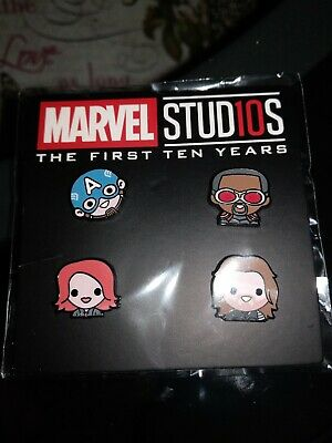 Disney Movie Rewards Marvel Studios 10TH ANNIVERSARY EMOJI PIN SET DMR ISSUE #2