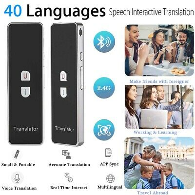 T8+ Portable 2.4G Bluetooth Pocket Interpreter Smart Real Time Voice Translator