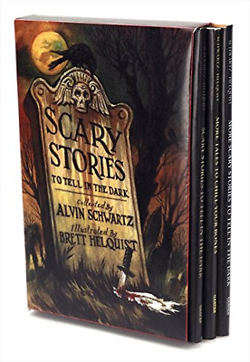 Scary Stories To Tell In The Dark Box Set Of 3 Books Alvin Schwartz Halloween